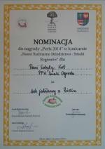 """Nominacja do konkursu """"Perła 2014″"""